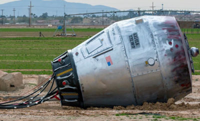 A 'Fallen Space Capsule' Created Confusion on I-10