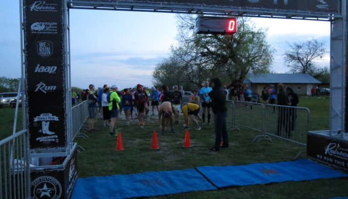 The starting line at first light