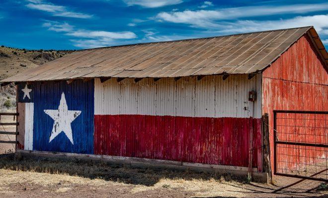 Texas Flag on a Barn town