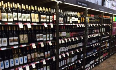 Texas wines aisle