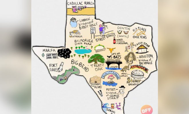 BuzzFeed Austin Left the DFW Area Off of Their Map of Texas