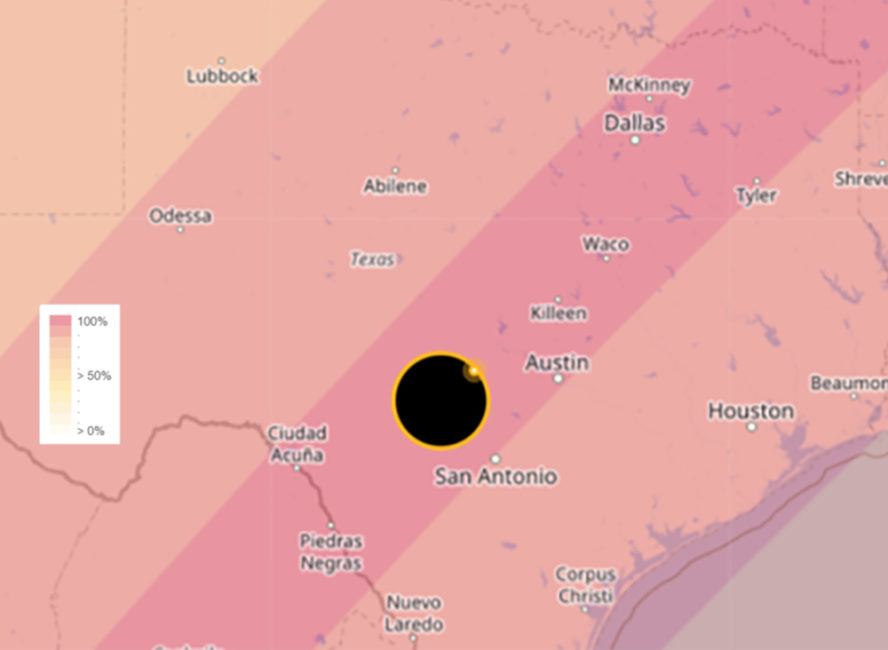 2024 eclipse Texas