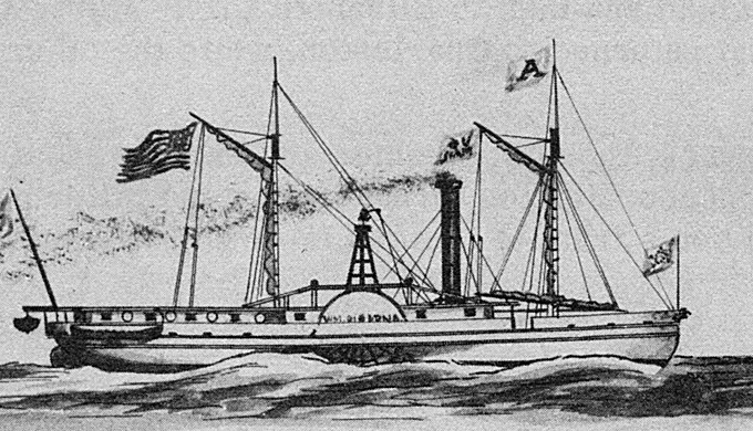 the William Gibbons in 1833 is likely similar to early steamboats in Texas