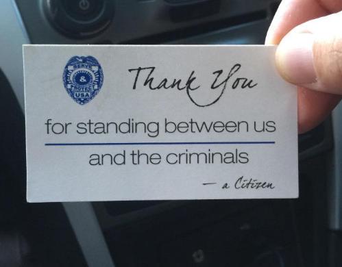 Thank You Card Thin Blue Line