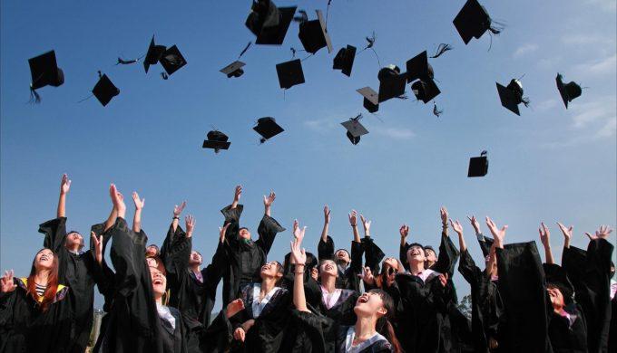 Graduate Cap Toss