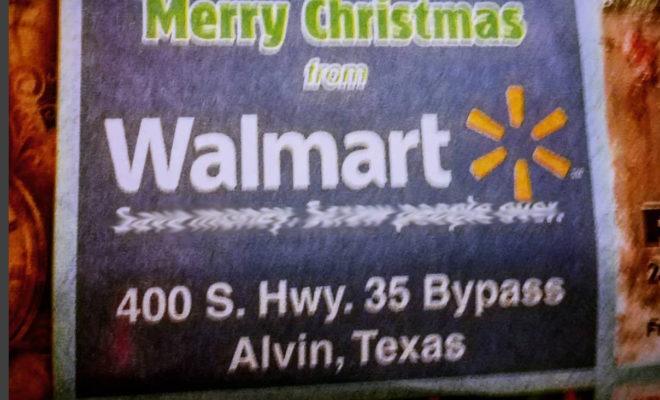 Alvin Newspaper Off Brand Walmart Ad Raises Eyebrows