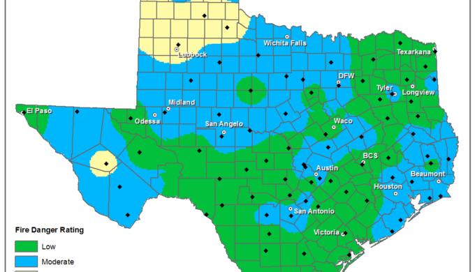 Texas Wildfire Danger Map