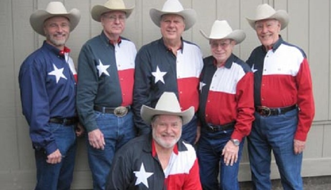 Swing Band in Texas flag shirts