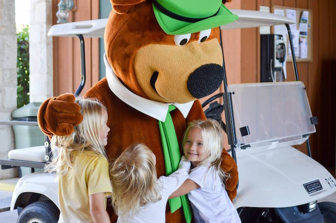 yogi bear with kids